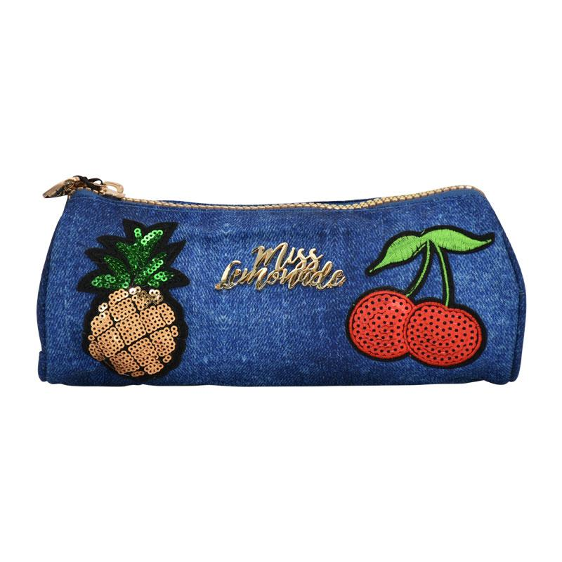 Pencil Case Miss Lemonade Denim Patch