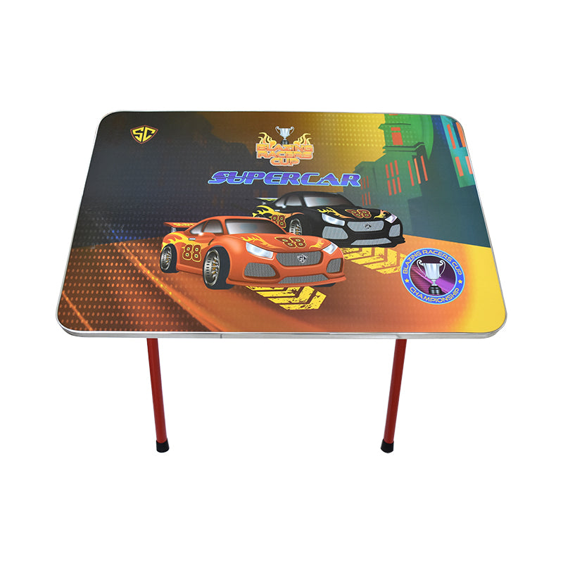 Kids Foldable Study Table & Chair-Super Car