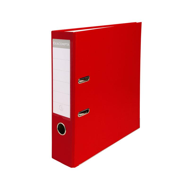 Lever Arch File 70mm A4 Pvc Red