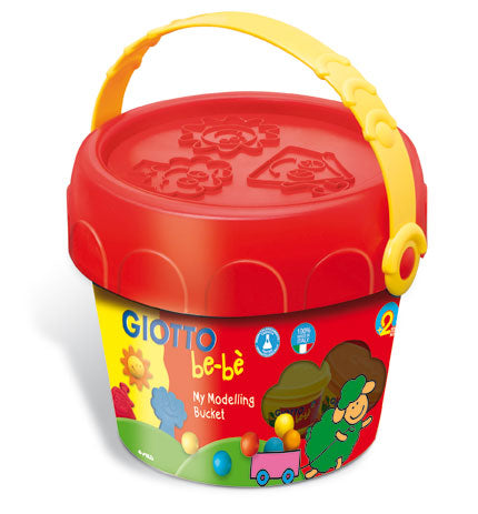 Giotto Bebe Modelling Dough Play Set 5color+Tools in Bucket-467600