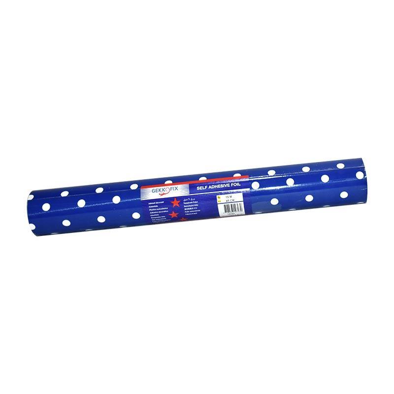 Self Adhesive Rolls Design 15m Dots Purpose Blue