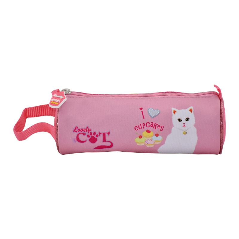Pencil Case Round Lovely Cat LCB