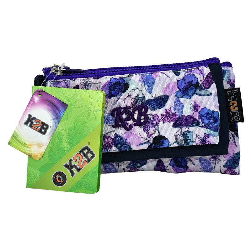 Pencil Case Tripple Purple