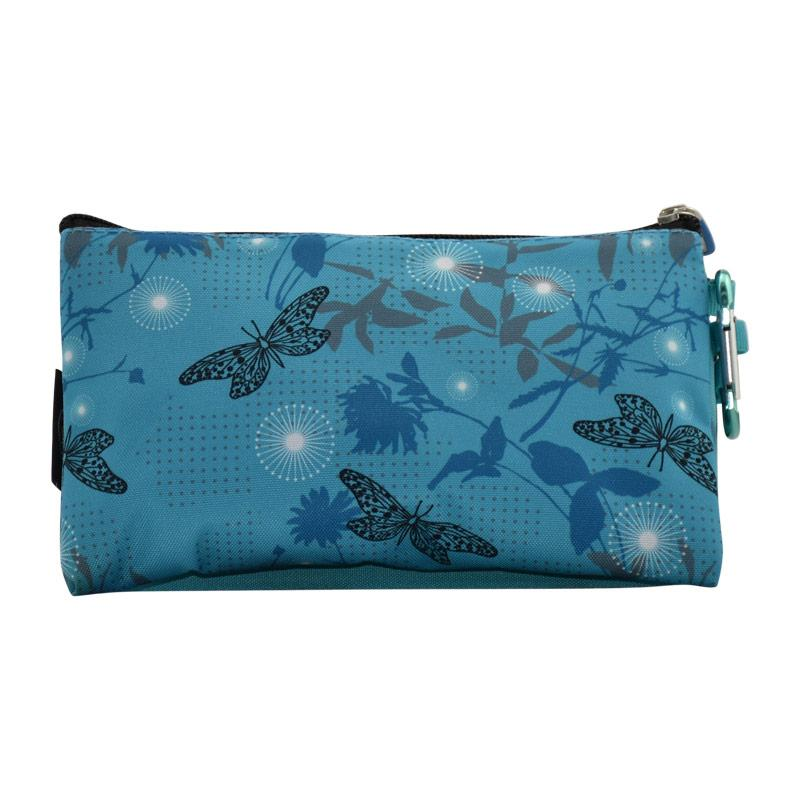 Pencil Case Tripple Blue Buttrefly