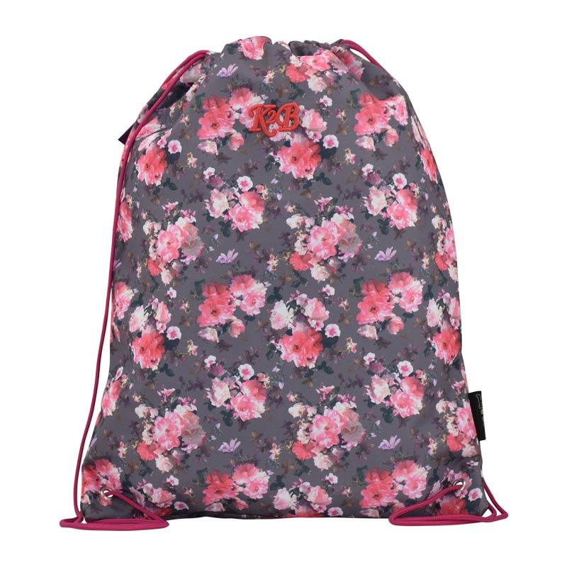 String Bag Pink Flower