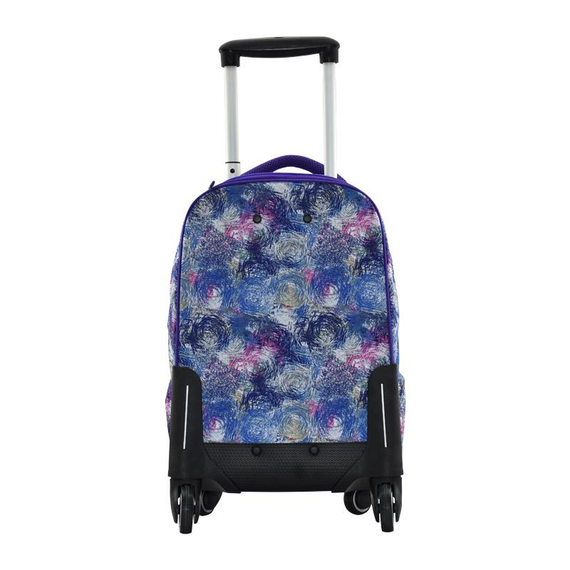 Trolley Bag 4 Wheel Purple