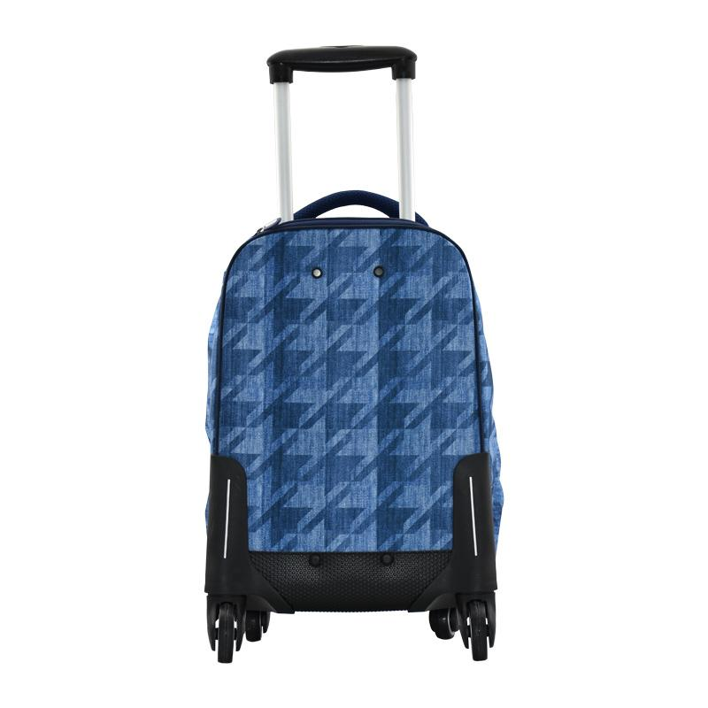 Trolley Bag 4 Wheel Denim Blue