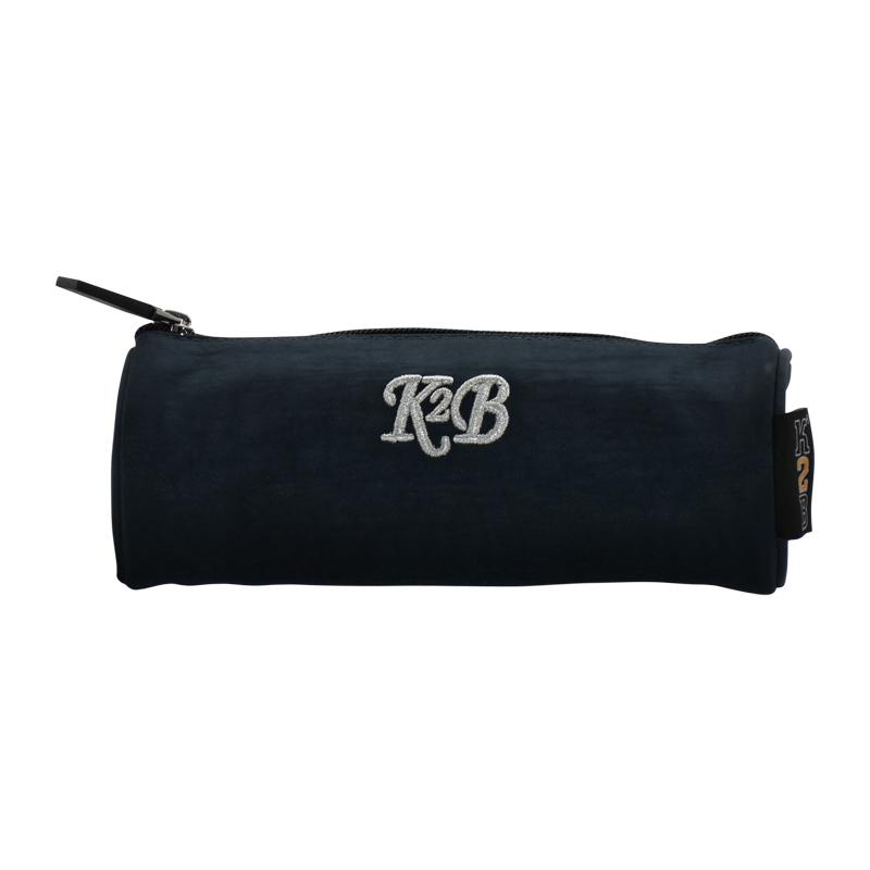 Pencil Case Round Navy Blue - K18-05B-PCR