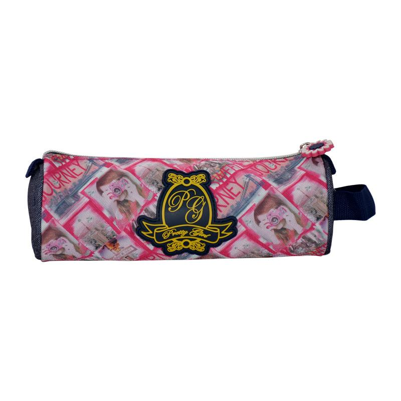 Pencil Case Round Pretty Girl - K8PGB-PCR