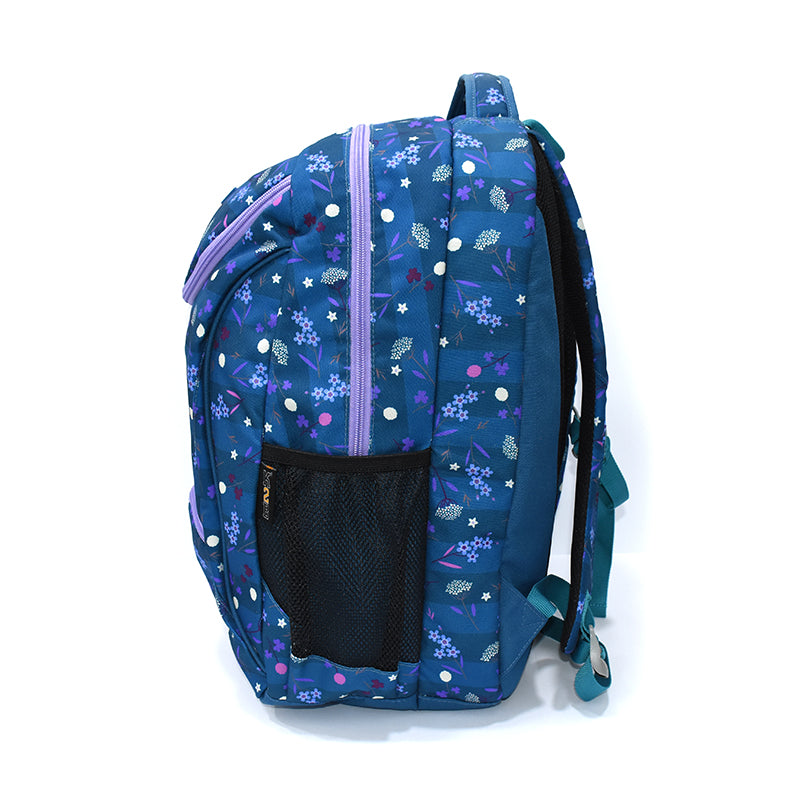 Back Pack Large-Bluish Green/Flowers-K20-G5-BP