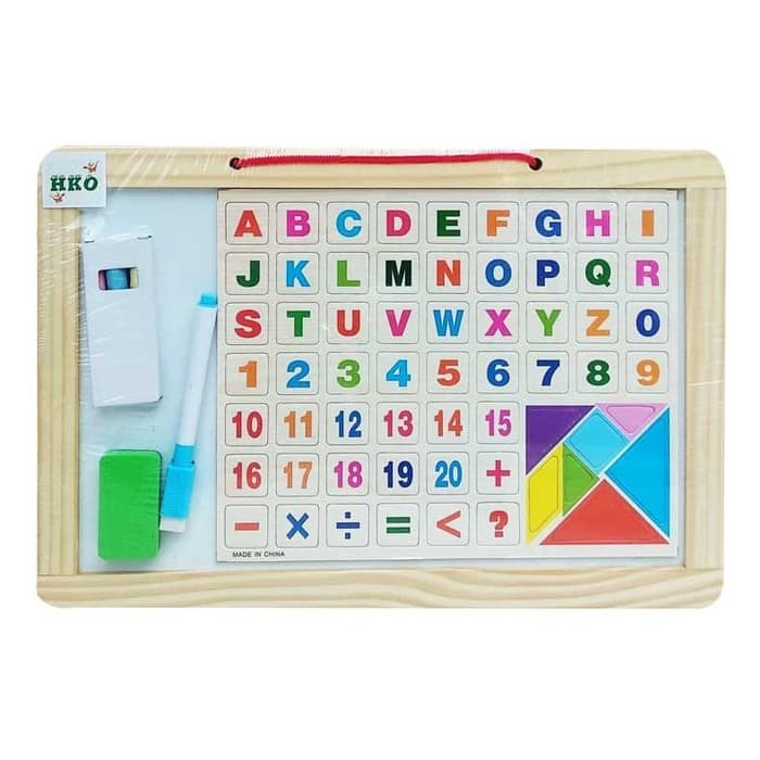 White/Black Board with Letters-9969-18