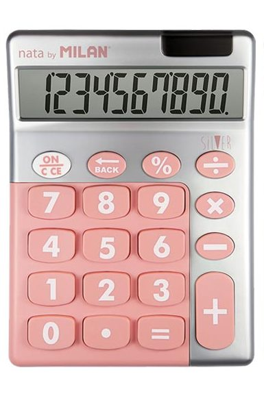 Calculator Rubber Touch Silver
