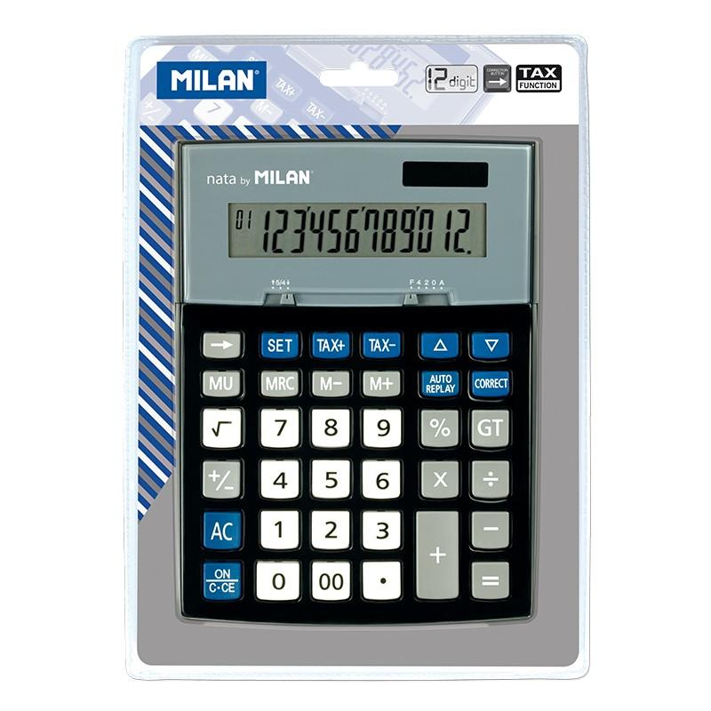 Calculator 12 Digit W/Check Button-153012BL