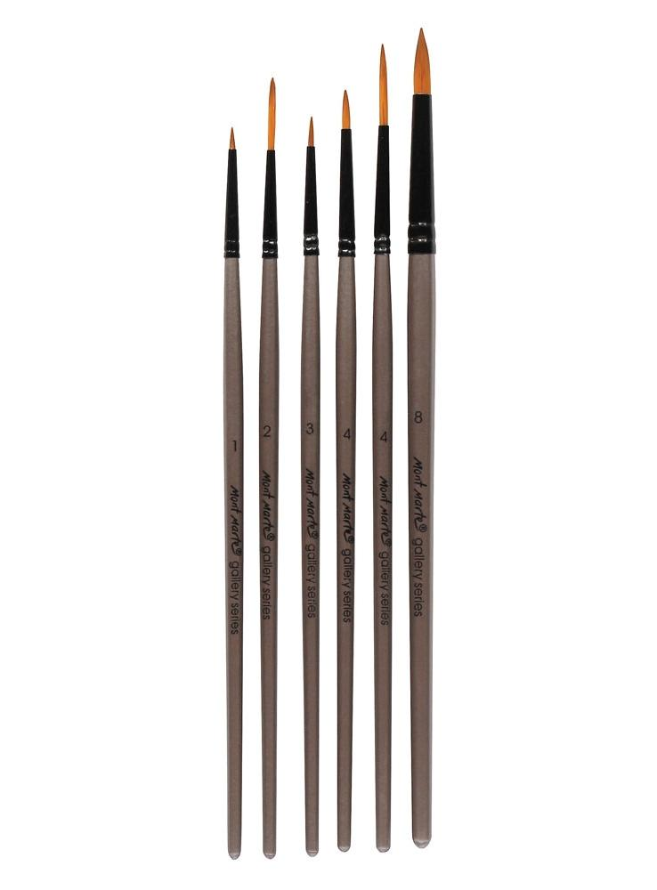 Brush Set Gallery Acrylic 6Pcs-BMHS0008