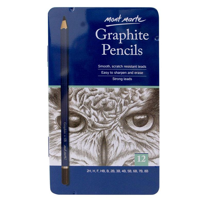 Graphite Pencil 12 Pcs-MPN0114