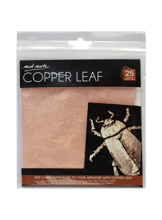 Copper Leaf 14x14cm 25 Sheet-MAXX0023