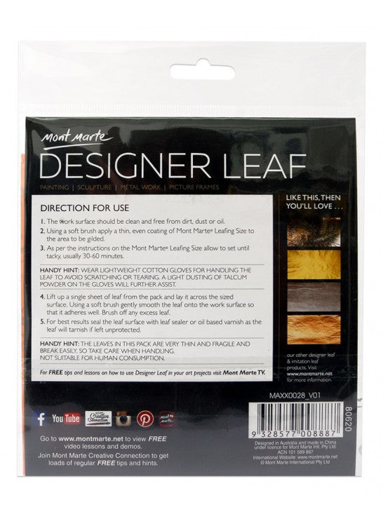 Designer Leaf 14x14cm 8 sheet Gold River-MAXX0028