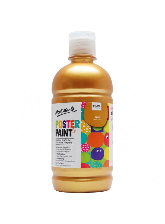 Poster Paint 500ml Gold-MPST0011