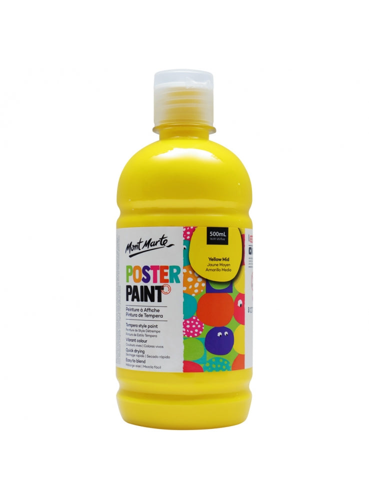 Poster Paint 500ml Medium Yellow-MPST0013