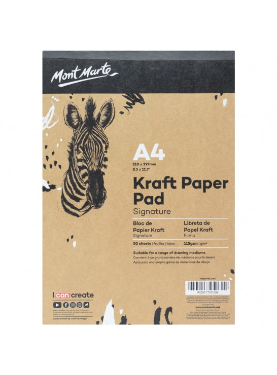 Craft Paper Sketch Pad A4 115gsm 50 Sheet-MSB0096