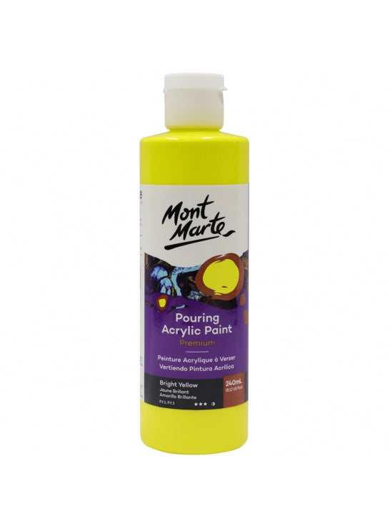 Pouring Acrylic Paint 240ml Bright Yellow-PMPP0002
