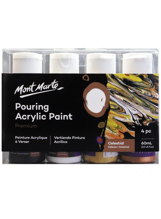 Pouring Acrylic Paint 4x60ml Clestial-PMPP4206