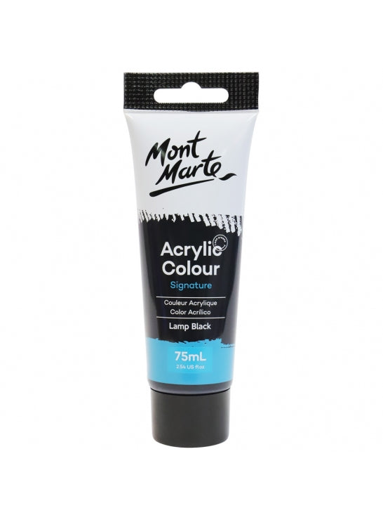 Mont Marte-Acrylic Color 75ml Lamp Black-MSCH7532