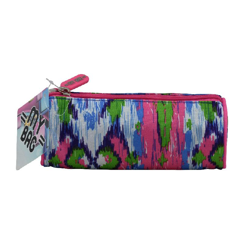 Pencil Case Round Pink/Blue/Green