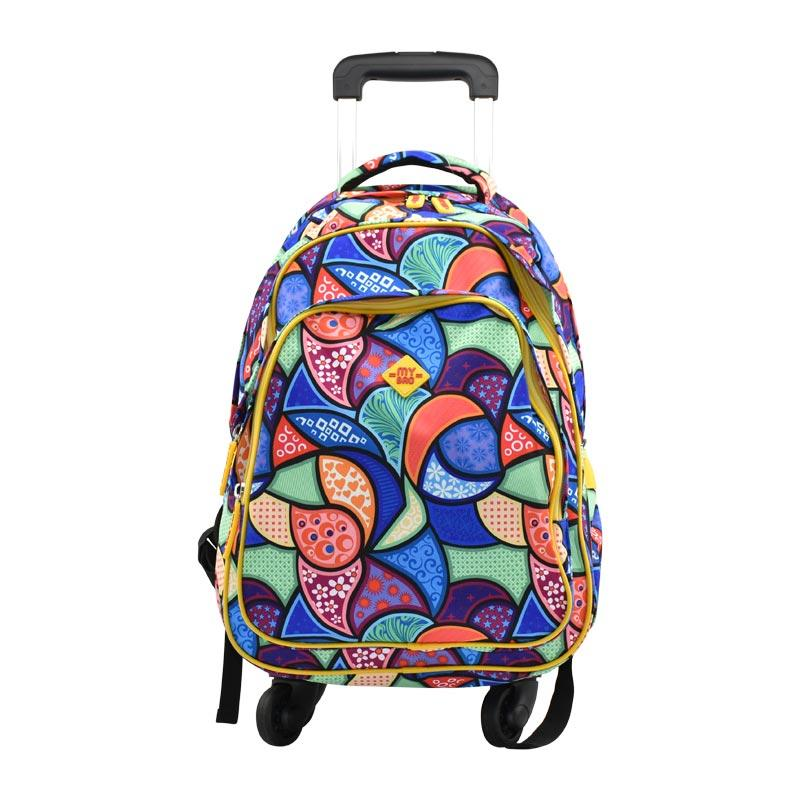 Trolley Bag 4 Wheel Multicolor