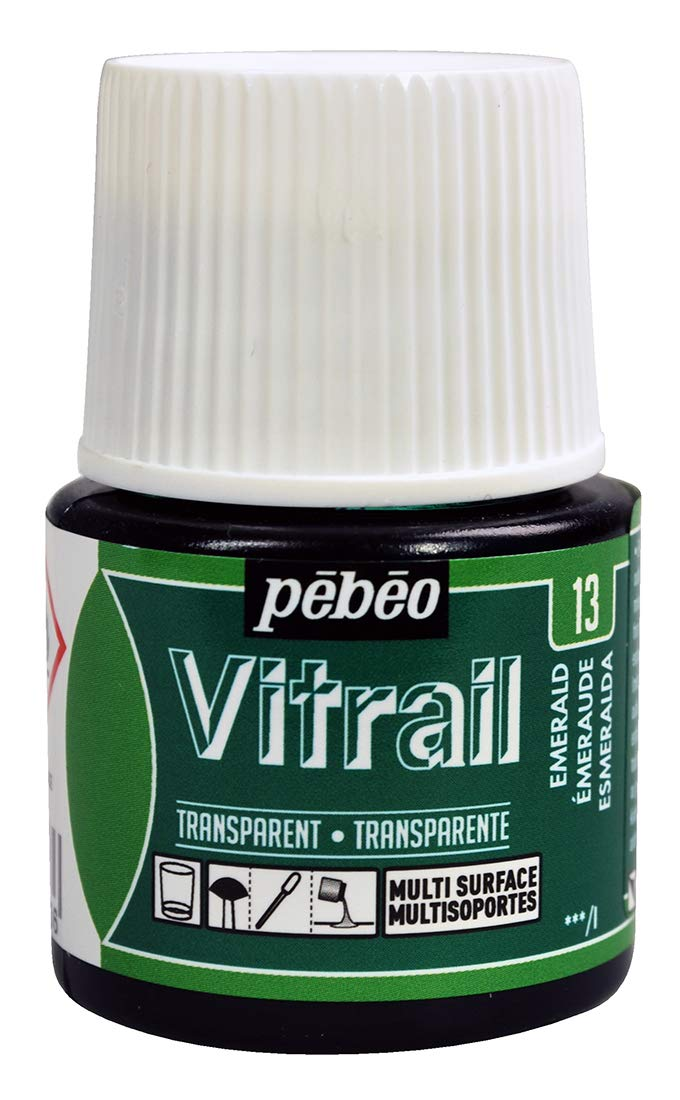Pebeo Vitrail Glass paint 45ml Emerald-050013