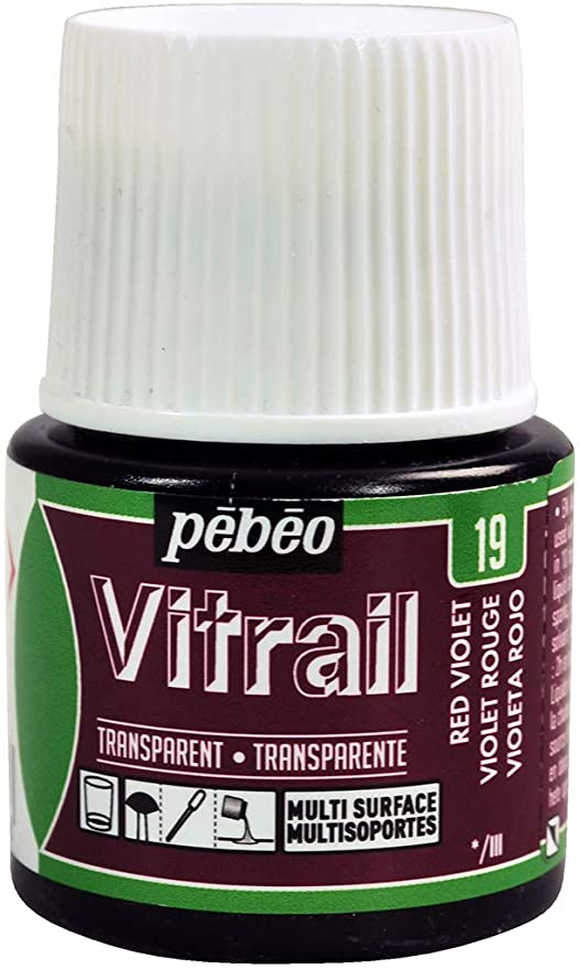 Pebeo Vitrail Glass paint 45ml red Violet-050019
