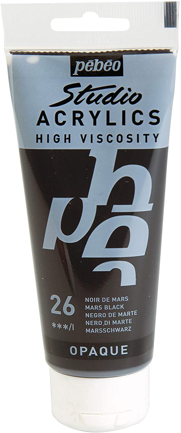 Pebeo Acrylic Studio 100ml Mars Black-831026