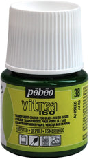 Pebeo Vitrea 160 Glass Paint Frosted 45ml Aniseed Green-112038