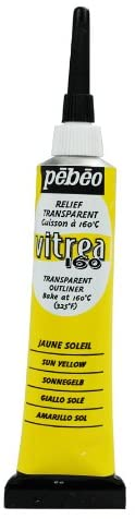 Pebeo Vitrea 160 Glass Paint Outliner 20ml Sun Yellow-114060