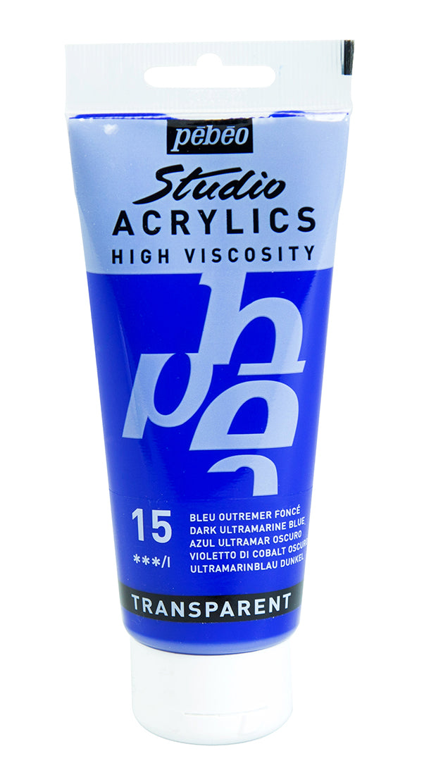 Pebeo Acrylic Studio 100ml Dark Ultramarine Blue-831015