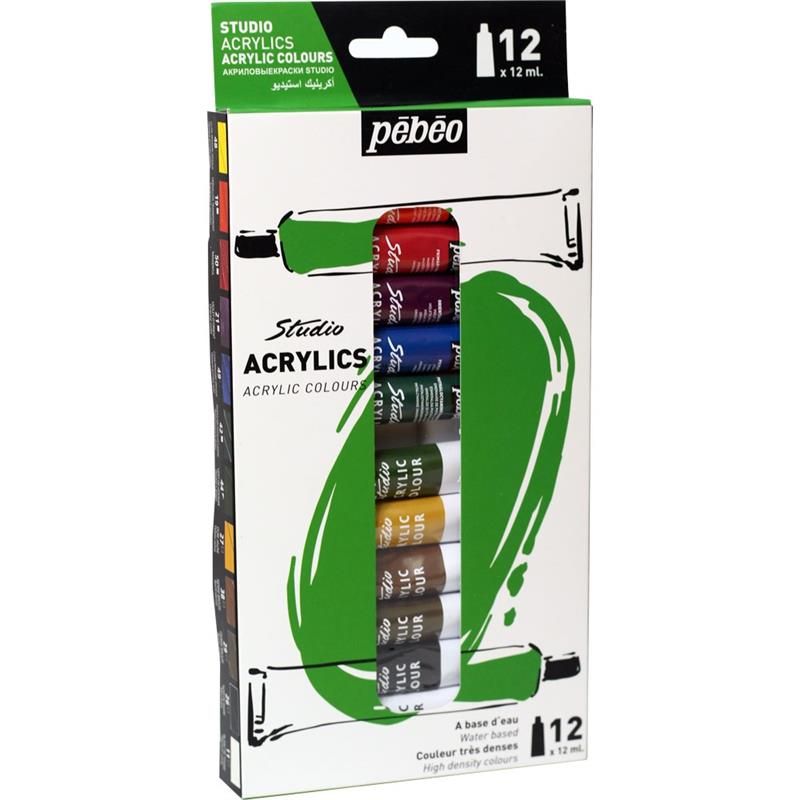 Pebeo-Acrylic Studio 12 ml 12 Color-668700