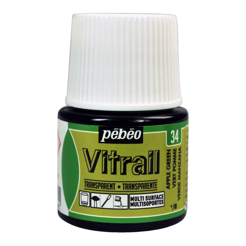 Pebeo Vitrail Glass paint 45ml Apple Green-050034