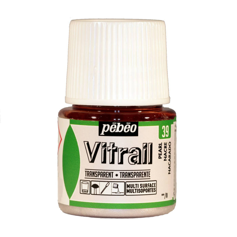 Pebeo Vitrail Glass paint 45ml Pearl-050039