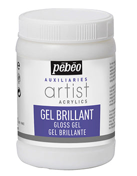 Pebeo Artist Auxiliaries-Acrylic gloss gel transparent 250ml-521330