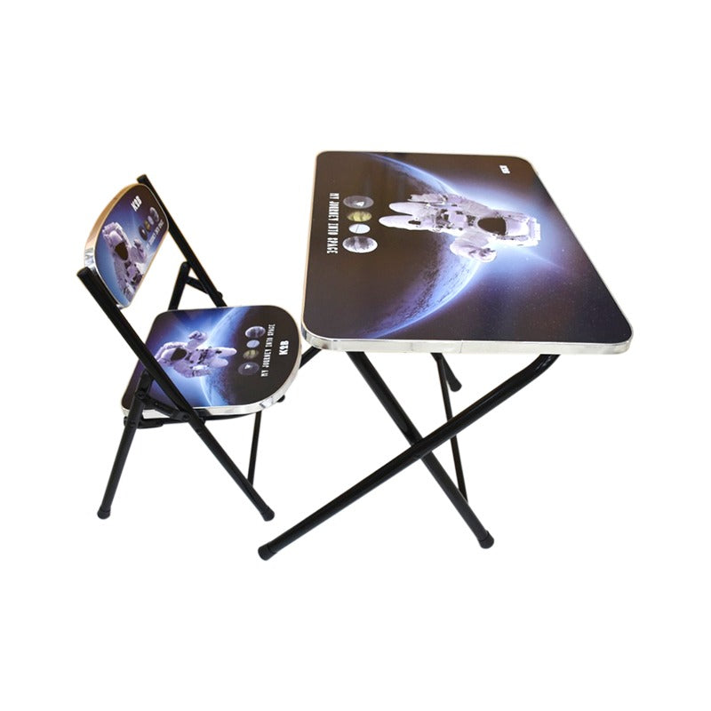 Kids Foldable Study Table & Chair-Astronaut