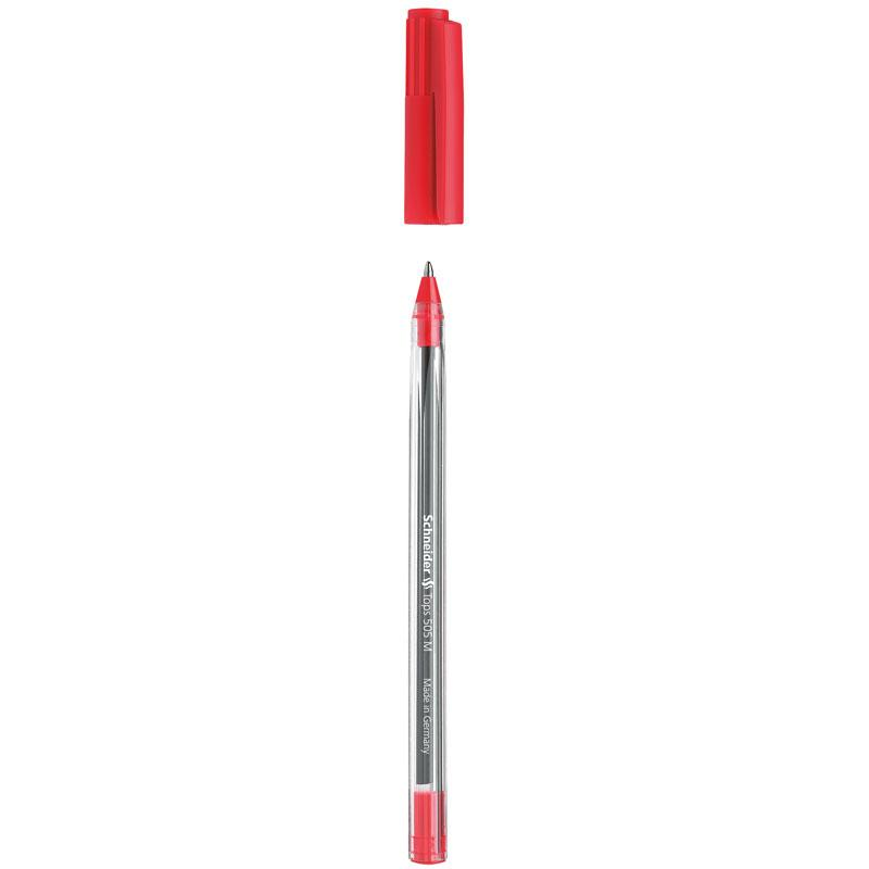 Schneider Ballpoint Pen Tops 505M Red