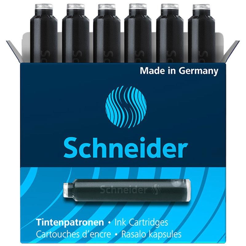 Schneider Ink Cartridge Erasable 6 Pcs Box Black