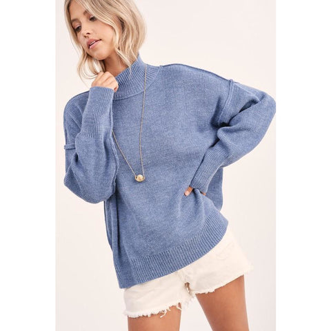 Sky Blue Dolman Sweater