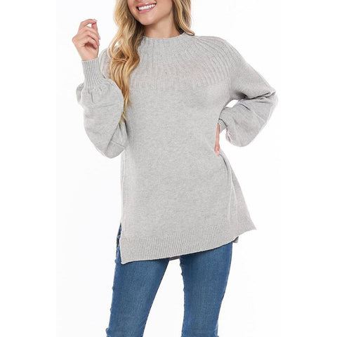 Soft Mock Neck Pullover