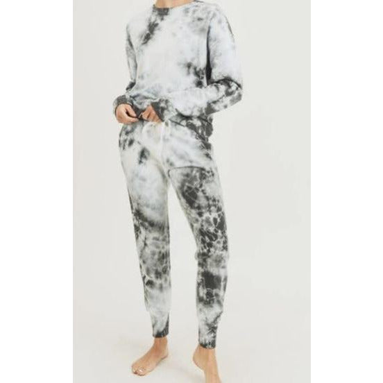Cozy Jaquard Tie Dye Jogger Set - Janet and Jo