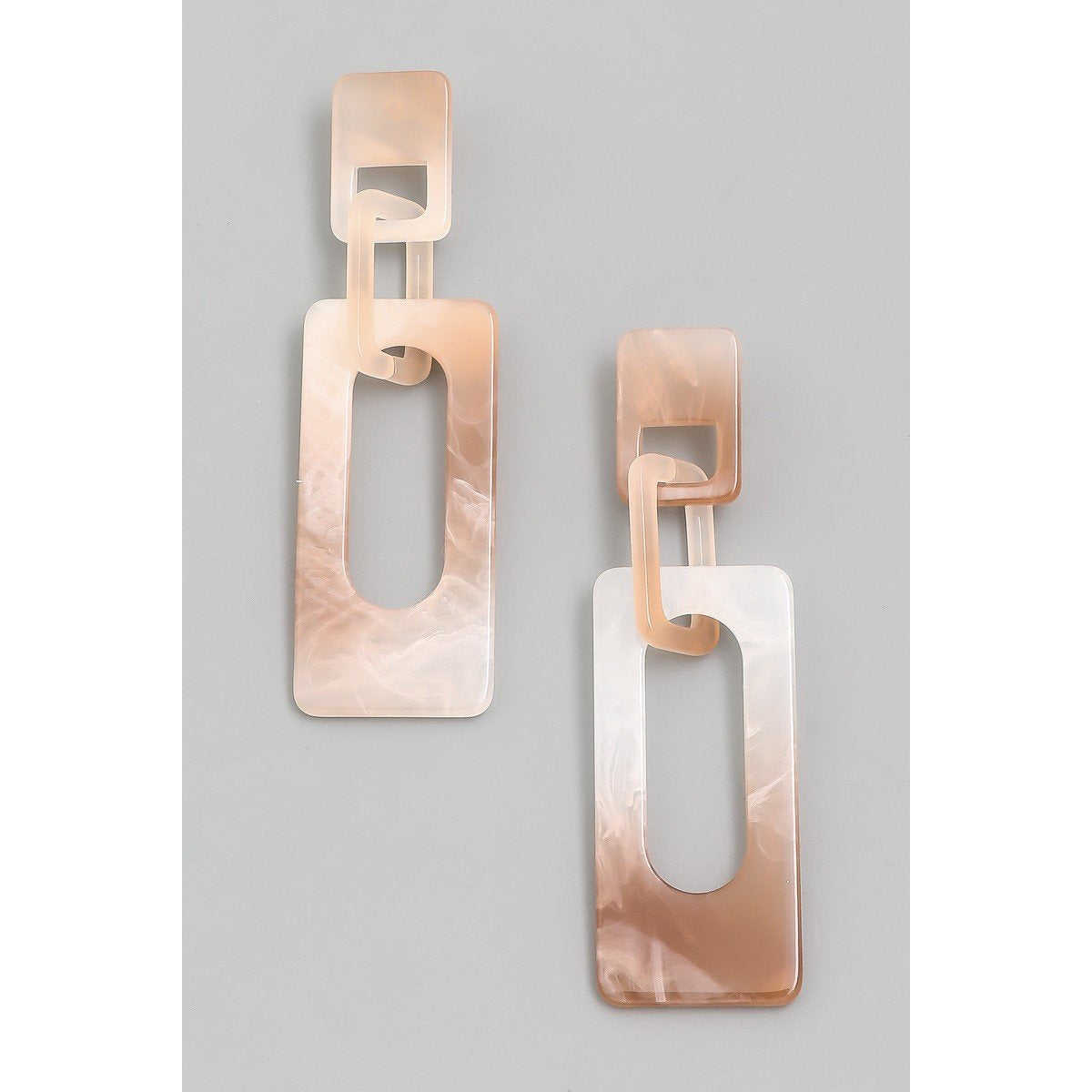 Ombre Tan Acrylic Earring - Janet and Jo