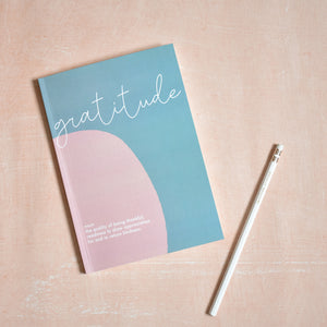 Gratitude Journal- 100 Days of Gratitude- Teal