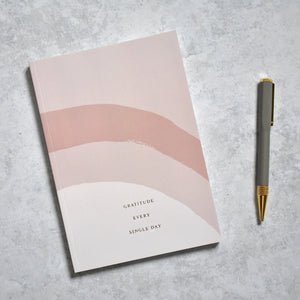 Gratitude Journal-100 Days of Gratitude (Dusty Rose, Gold Foiled)