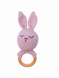 Rabbit Pink Rattle (By Baboo)