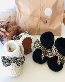 Crochet Baby Boties White Leopard